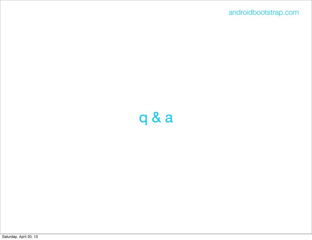 q & a androidbootstrap.com Saturday, April 20, ...