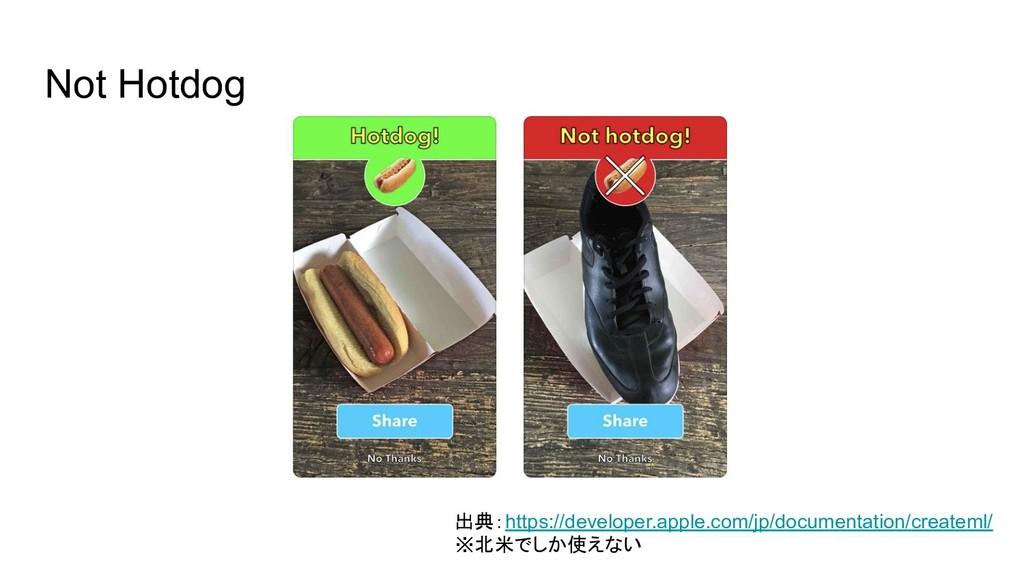 Not Hotdog 出典:https://developer.apple.com/jp/do...