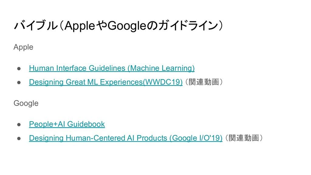 バイブル(AppleやGoogleのガイドライン) Apple ● Human Interfa...