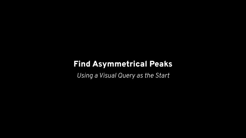 Find Asymmetrical Peaks Using a Visual Query as...