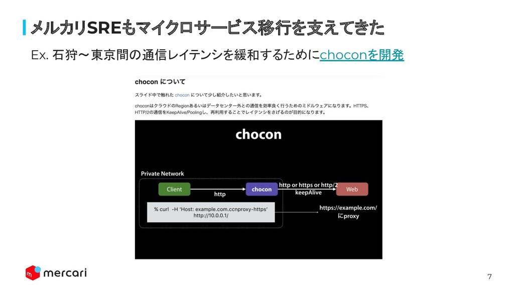 7 Ex. 石狩〜東京間の通信レイテンシを緩和するためにchoconを開発 メルカリSREもマ...