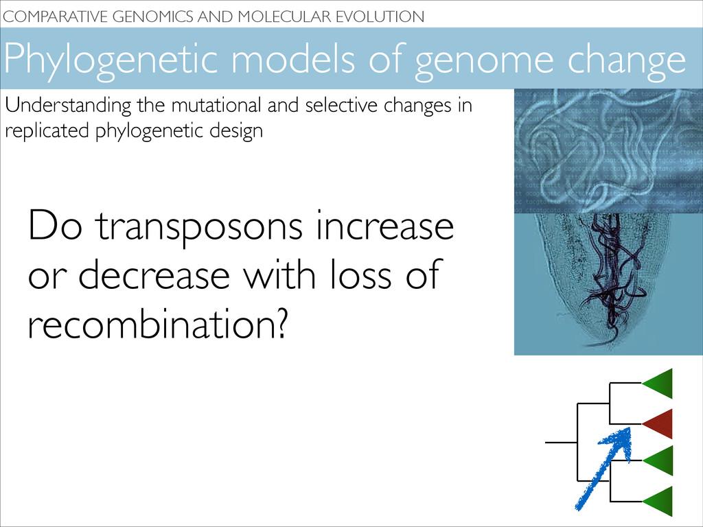 COMPARATIVE GENOMICS AND MOLECULAR EVOLUTION Ph...