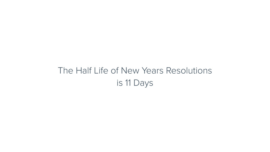 The Half Life of New Years Resolutions is 11 Da...