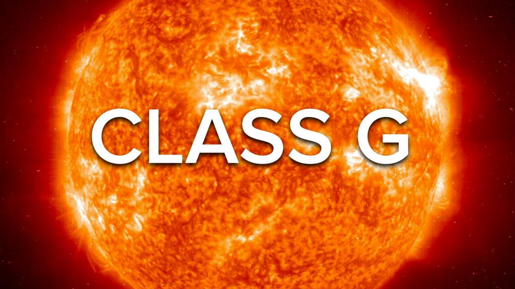 CLASS G