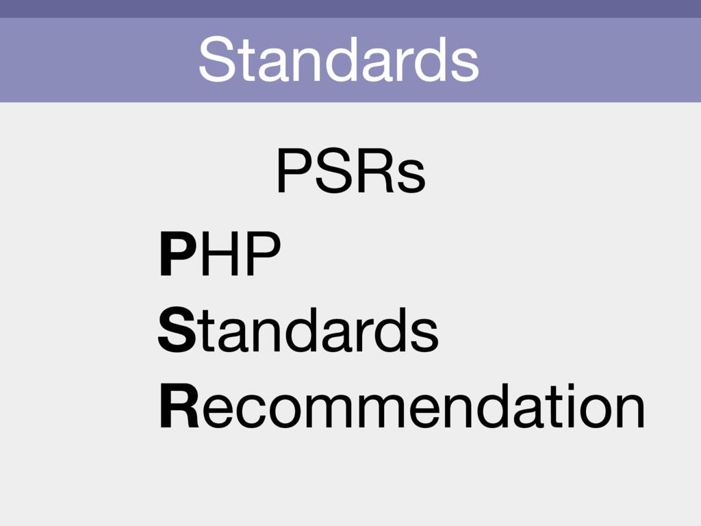 Standards PSRs PHP  Standards  Recommendation