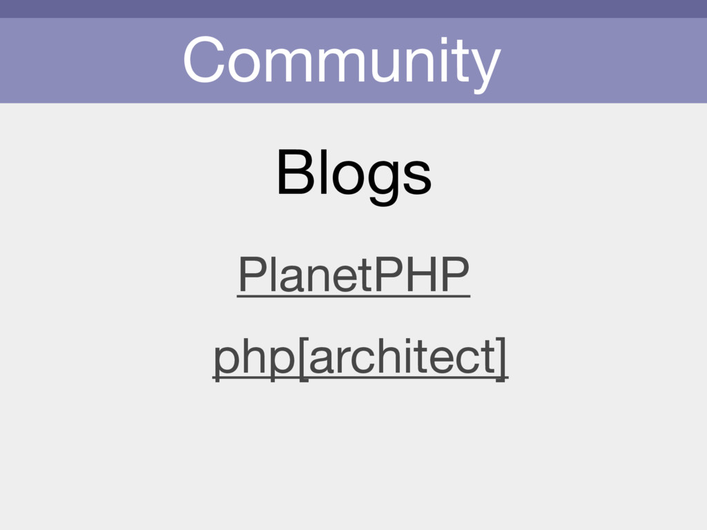 Community Blogs PlanetPHP php[architect]