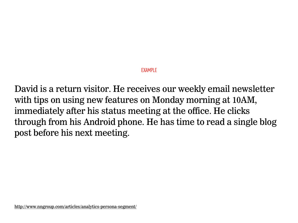 David is a return visitor. He receives our week...
