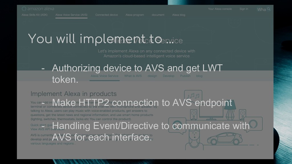 You will implement to ... - Authorizing device ...