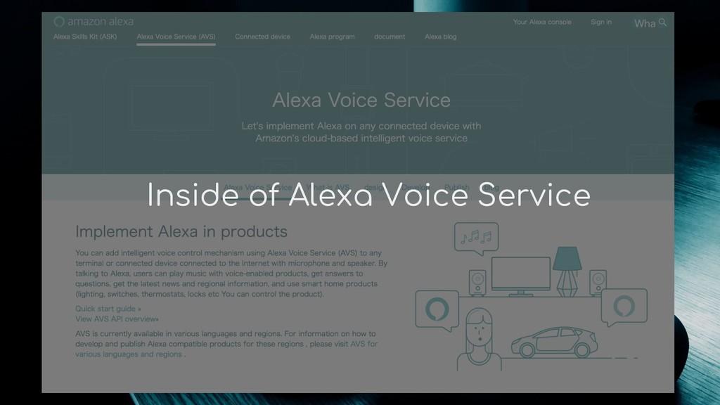 Inside of Alexa Voice Service