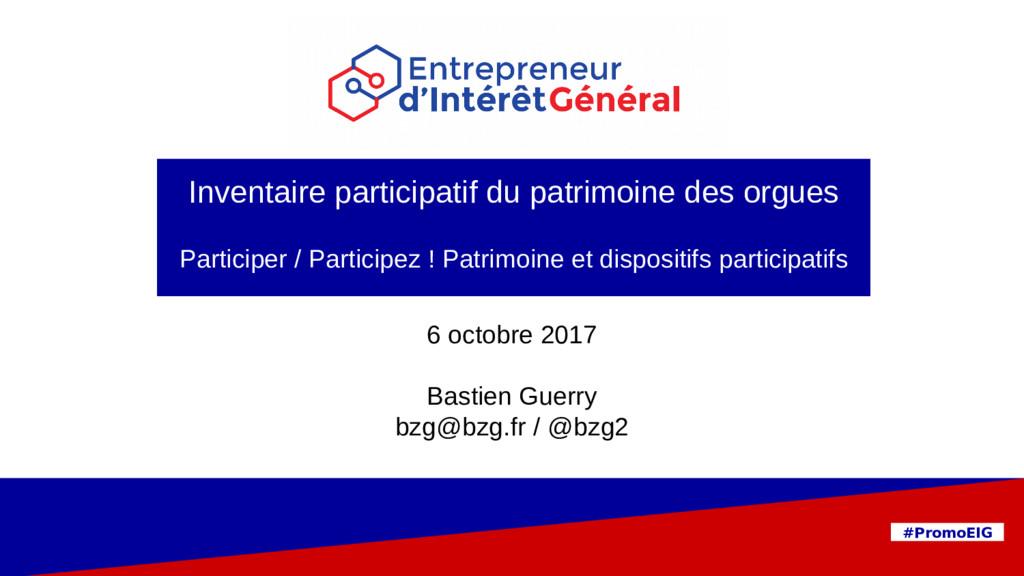 PIA 9 mars 2017 #PromoEIG 6 octobre 2017 Bastie...