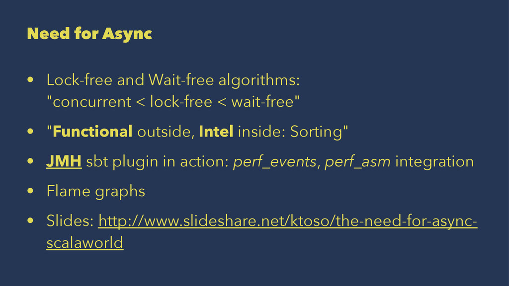 Need for Async • Lock-free and Wait-free algori...