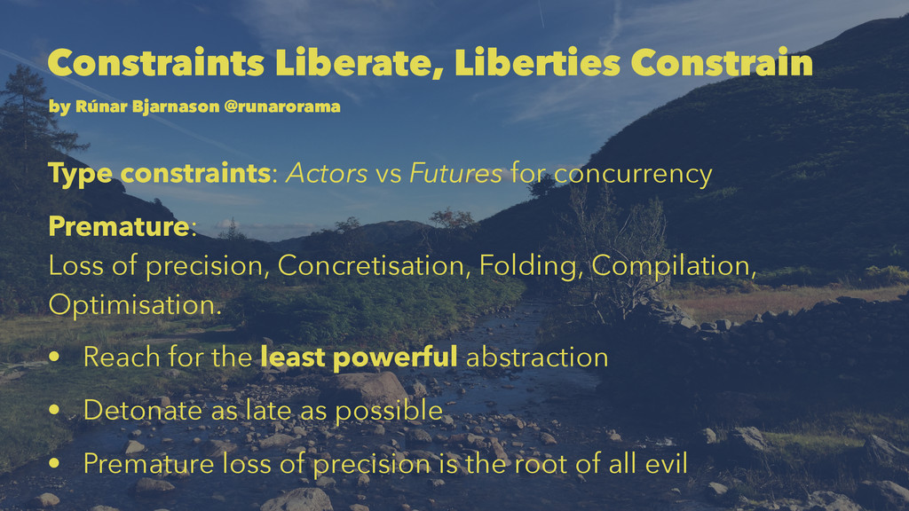 Constraints Liberate, Liberties Constrain by Rú...