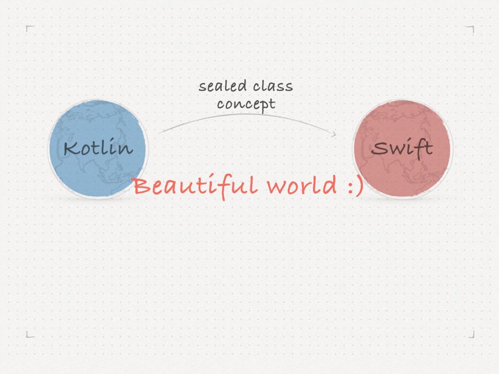 Kotlin Swift Beautiful world :) sealed class c...