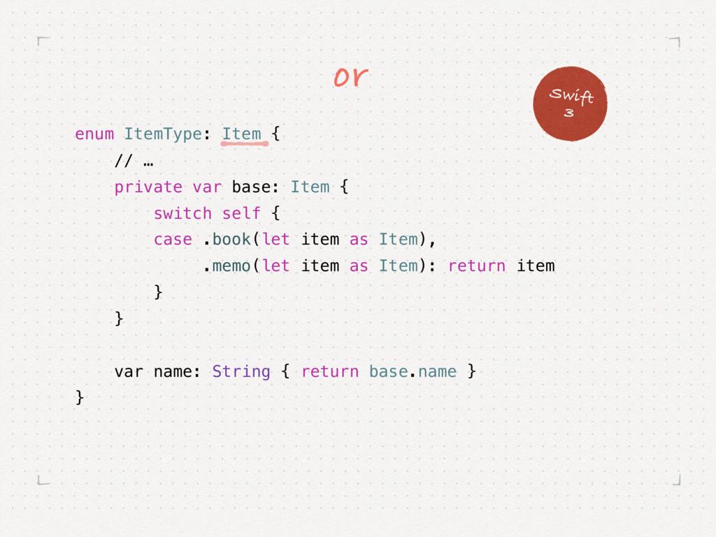 enum ItemType: Item { // … private var base: It...