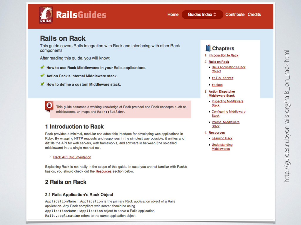 http://guides.rubyonrails.org/rails_on_rack.html