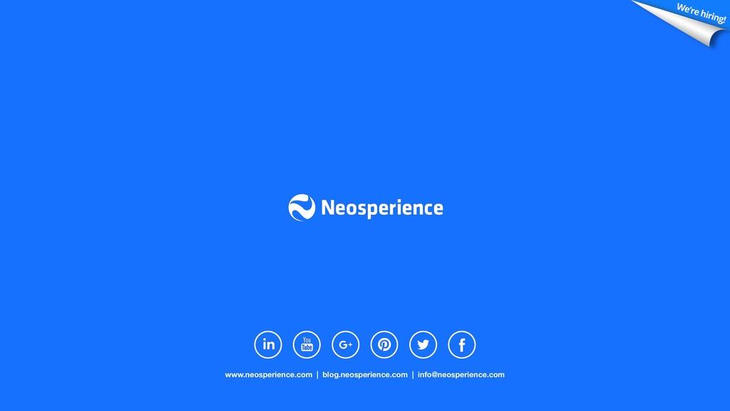 www.neosperience.com | blog.neosperience.com | ...