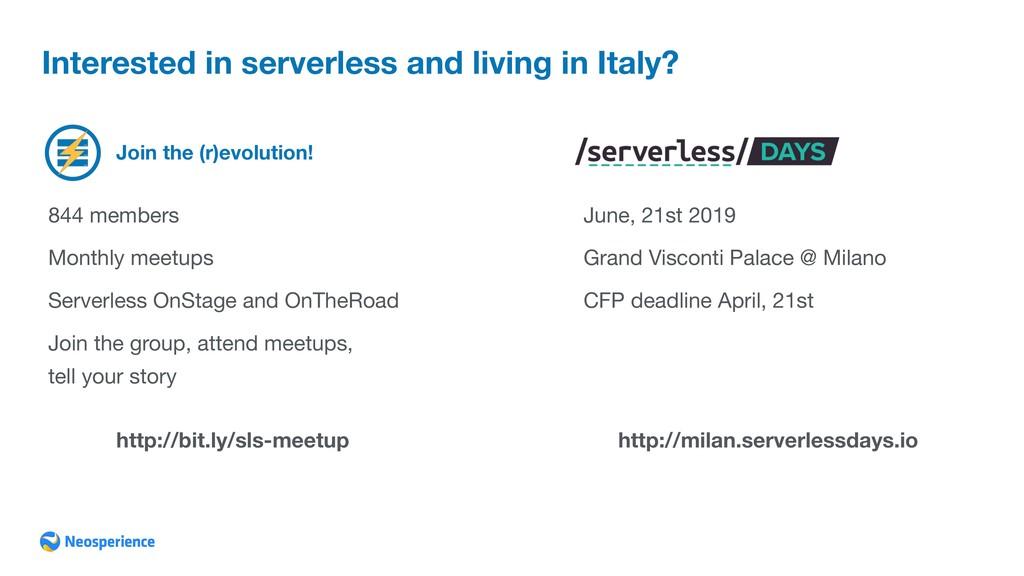 Join the (r)evolution! Interested in serverless...