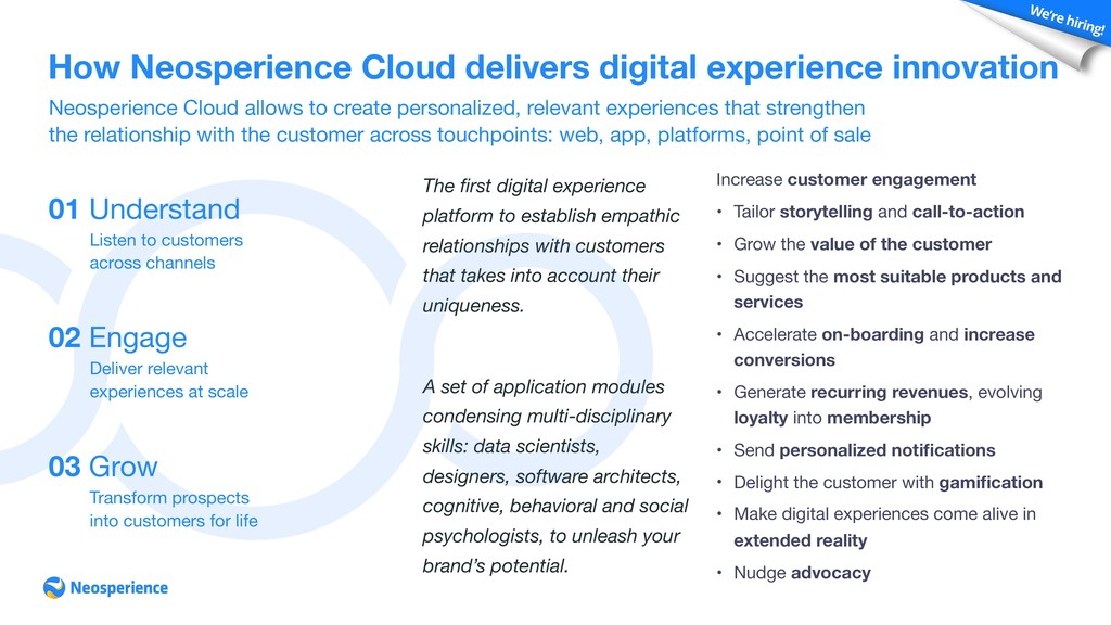 Neosperience Cloud allows to create personalize...
