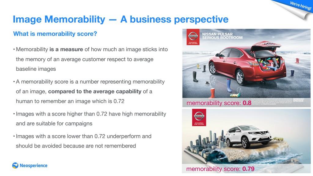 What is memorability score? Image Memorability ...