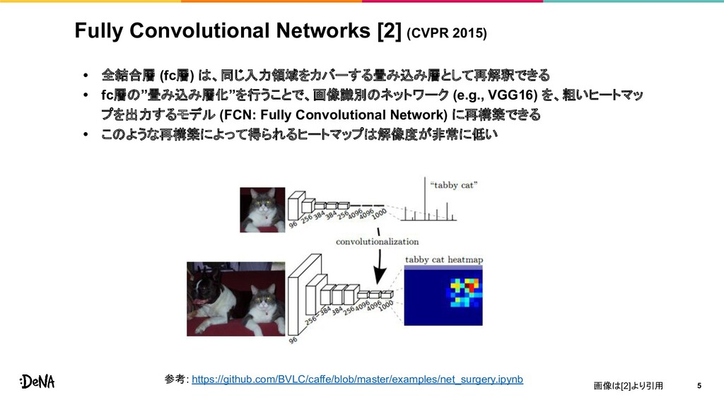 Fully Convolutional Networks [2] (CVPR 2015) • ...