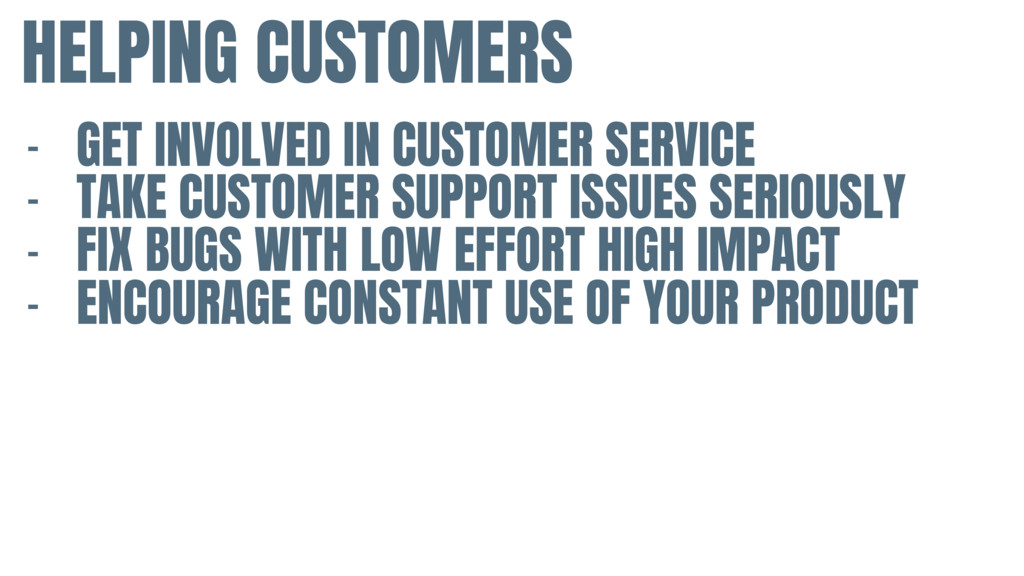 HELPING CUSTOMERS - GET INVOLVED IN CUSTOMER SE...