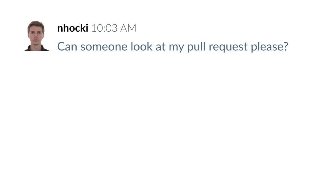 Can someone look at my pull request please? nho...