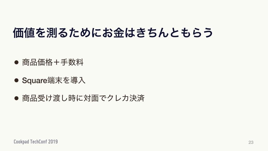 ՁΛଌΔͨΊʹ͓͖ۚͪΜͱΒ͏ 23 • Ձ֨ʴखྉ • SquareΛಋೖ ...