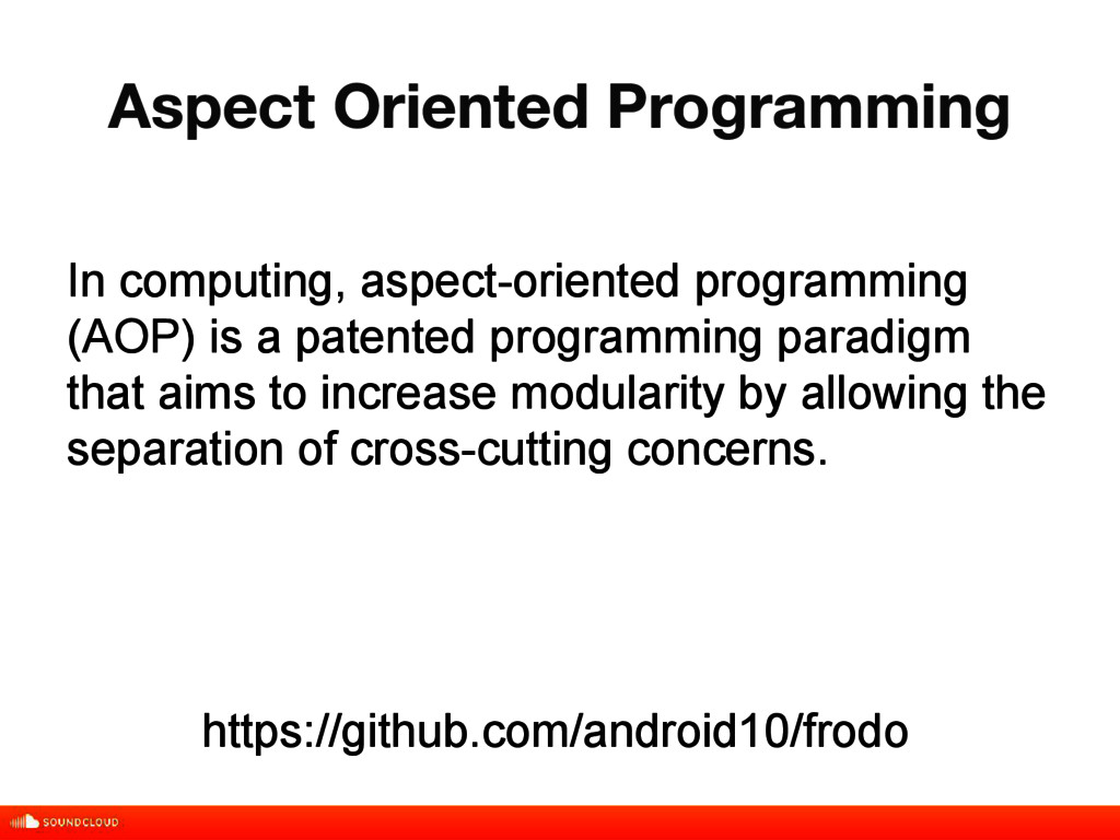 Aspect Oriented Programming title, date, 01 of ...