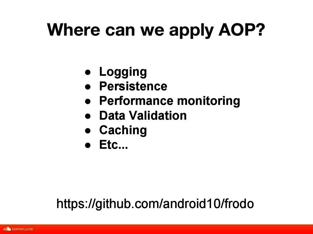 Where can we apply AOP? title, date, 01 of 10 ●...