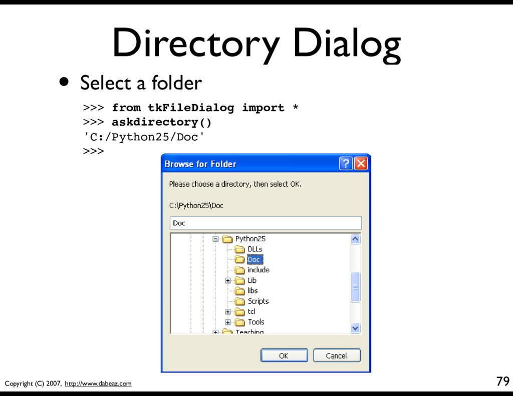 Copyright (C) 2007, http://www.dabeaz.com Direc...