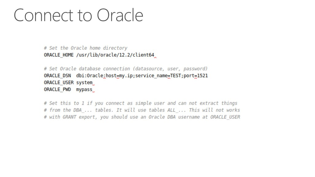 Connect to Oracle