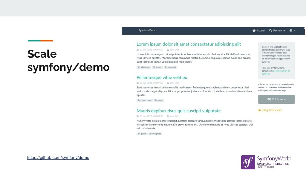 Scale symfony/demo https://github.com/symfony/d...