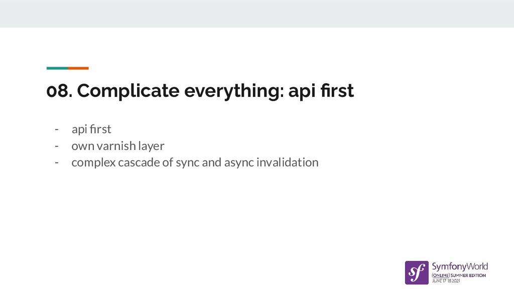 08. Complicate everything: api first - api first ...