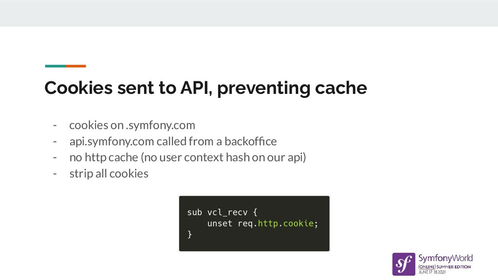 Cookies sent to API, preventing cache - cookies...
