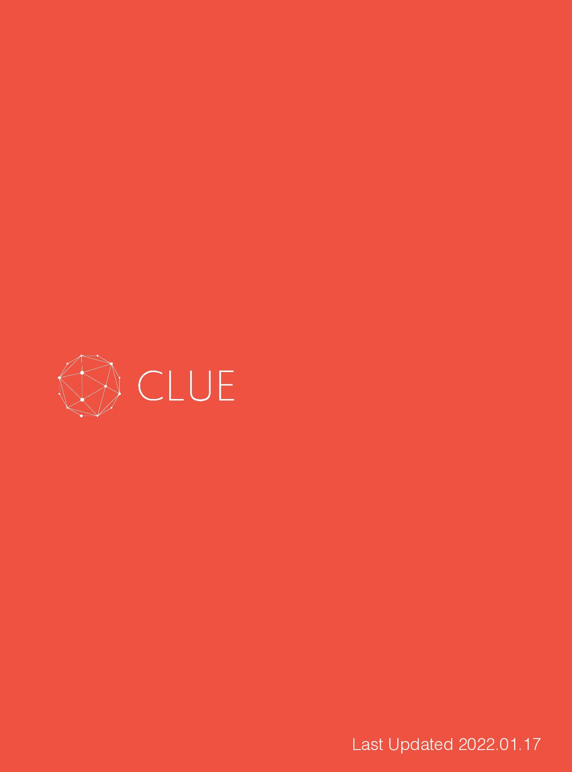 Strictly Confidential Copyright © 2020 CLUE, Inc...