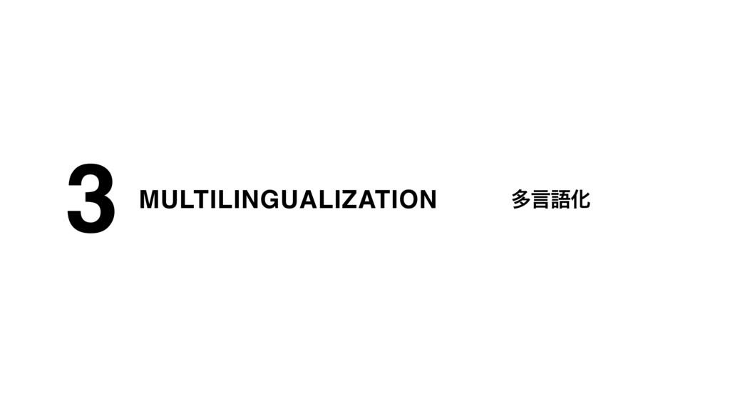 MULTILINGUALIZATION 3 ଟݴޠԽ