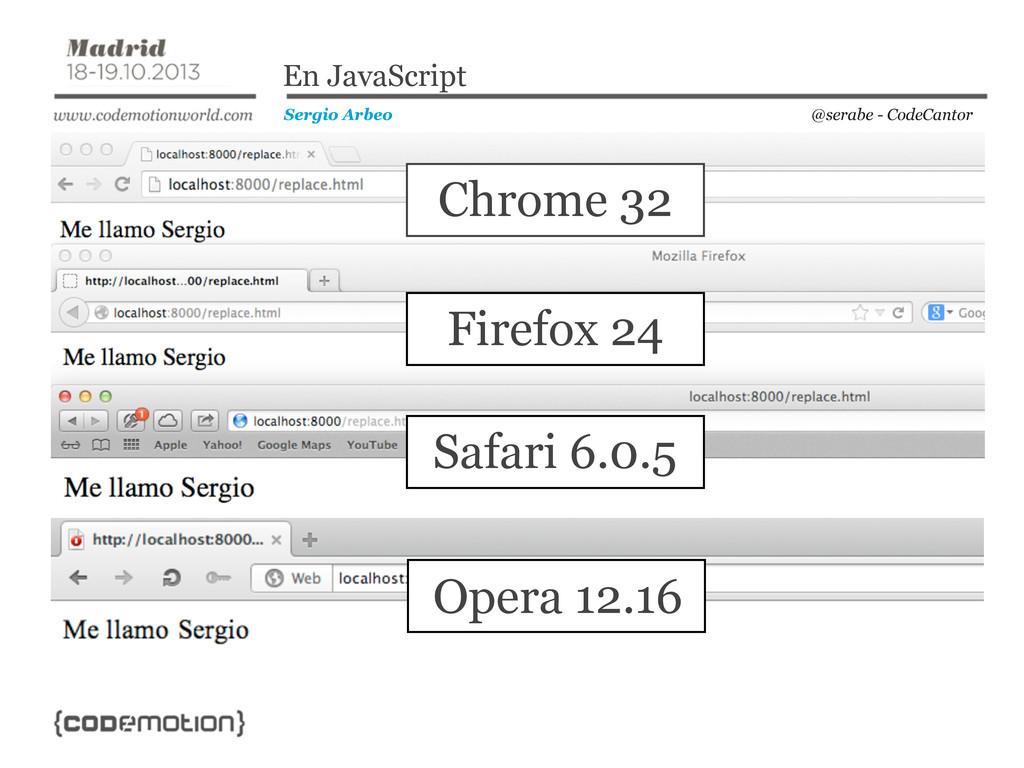 @serabe - CodeCantor Sergio Arbeo En JavaScript...