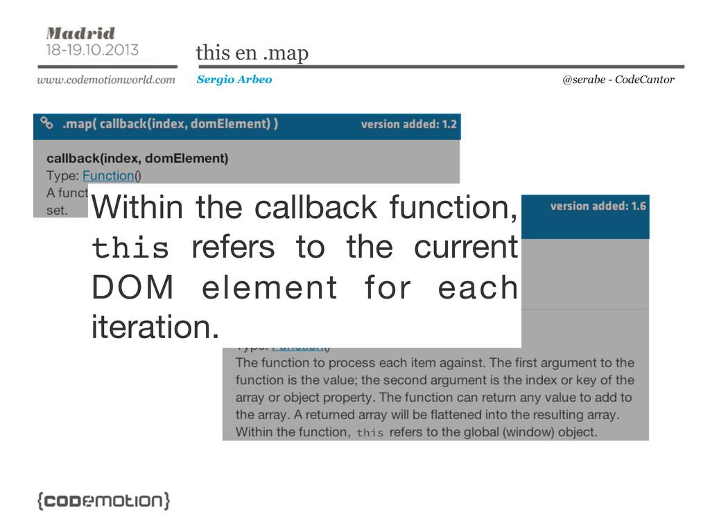 @serabe - CodeCantor Sergio Arbeo this en .map ...