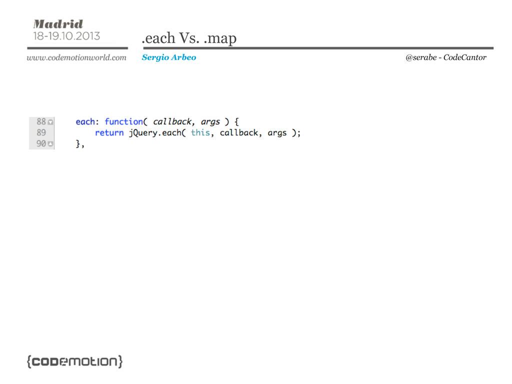@serabe - CodeCantor Sergio Arbeo .each Vs. .map