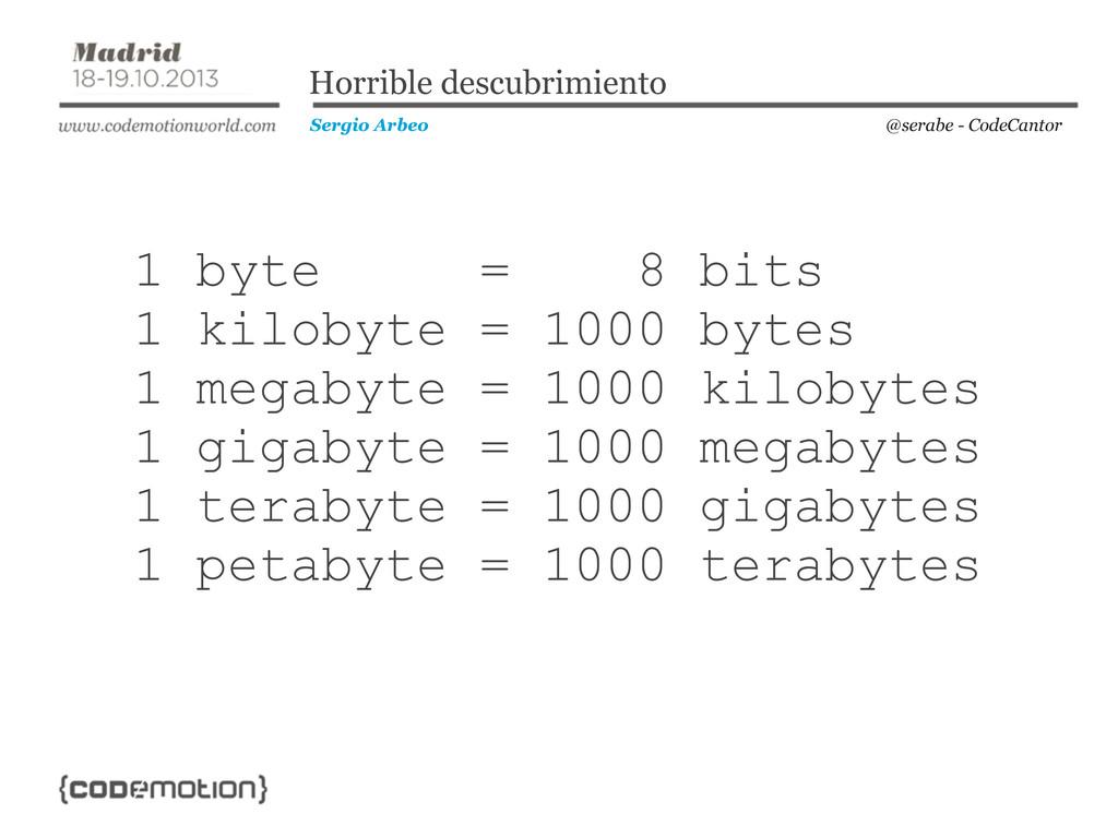 @serabe - CodeCantor Sergio Arbeo Horrible desc...