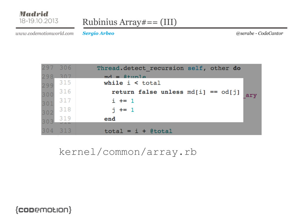 @serabe - CodeCantor Sergio Arbeo Rubinius Arra...