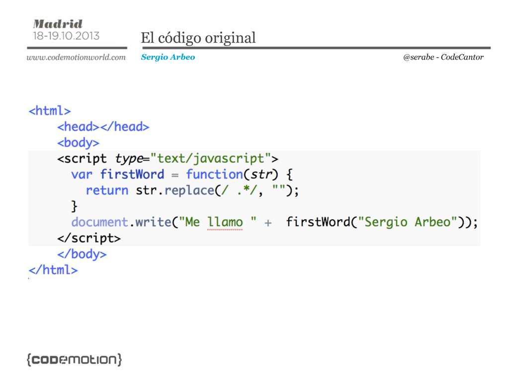 @serabe - CodeCantor Sergio Arbeo El código ori...