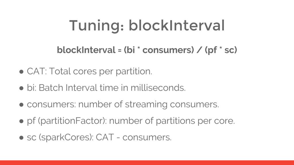 Tuning: blockInterval blockInterval = (bi * con...