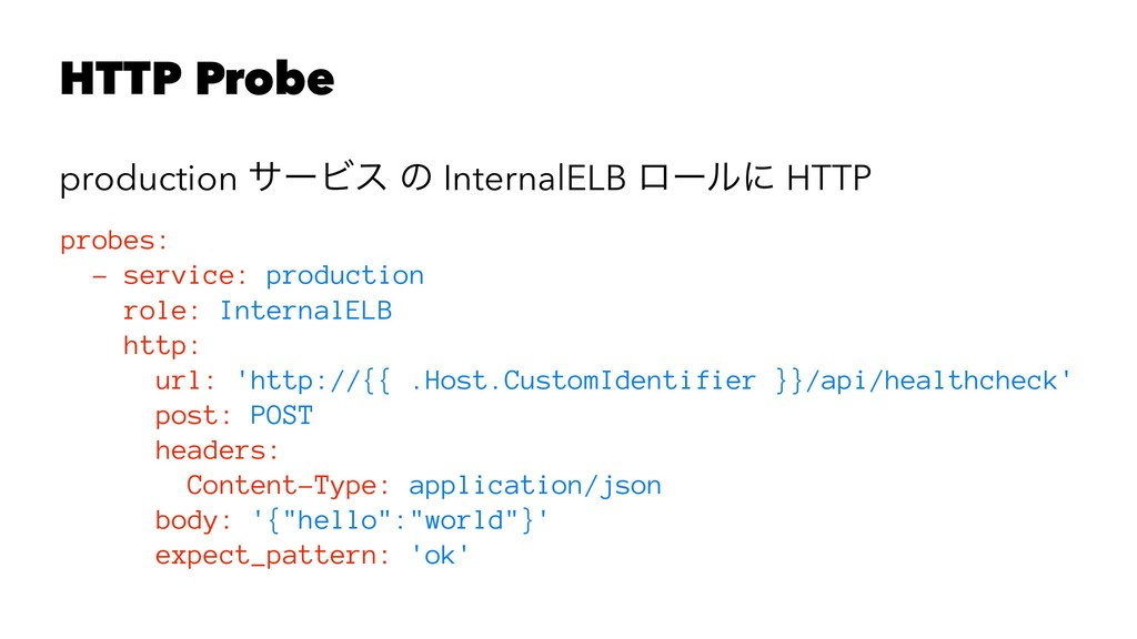HTTP Probe production αʔϏε ͷ InternalELB ϩʔϧʹ H...