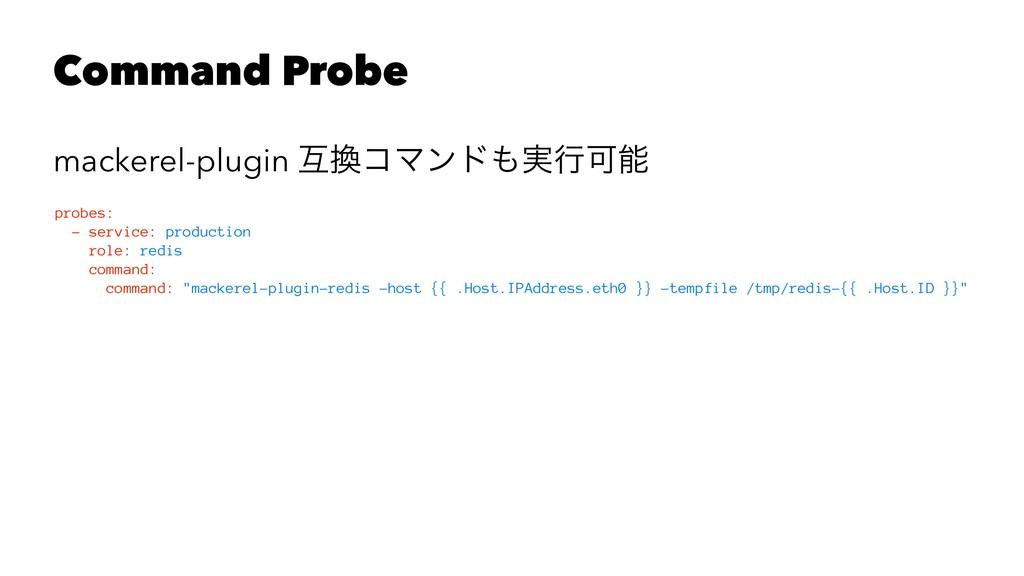Command Probe mackerel-plugin ޓίϚϯυ࣮ߦՄ probe...