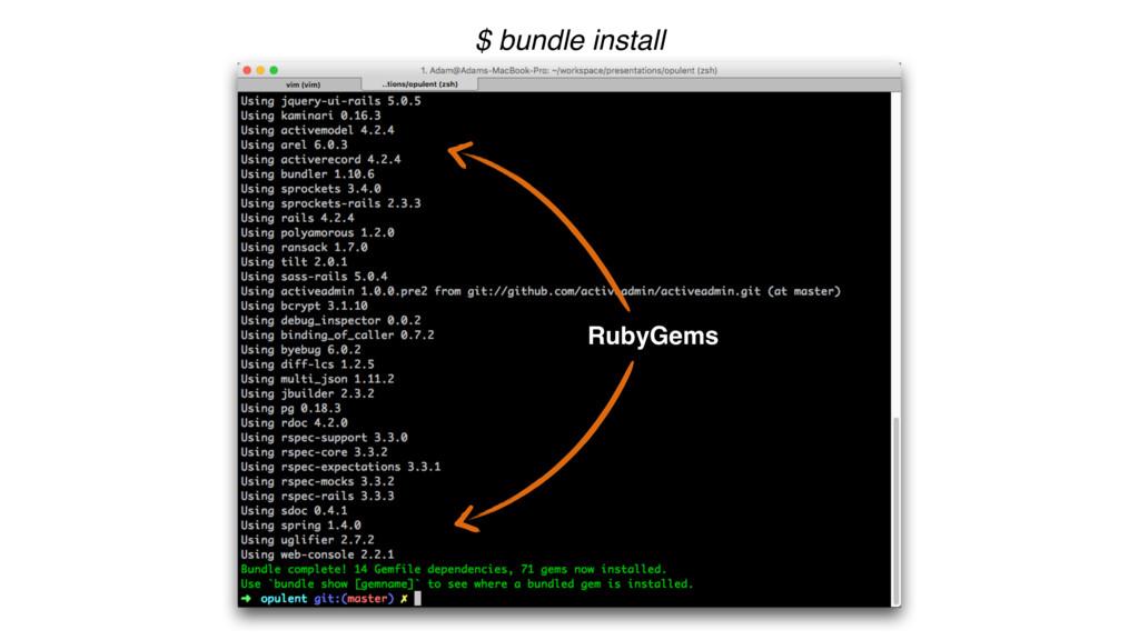 $ bundle install RubyGems