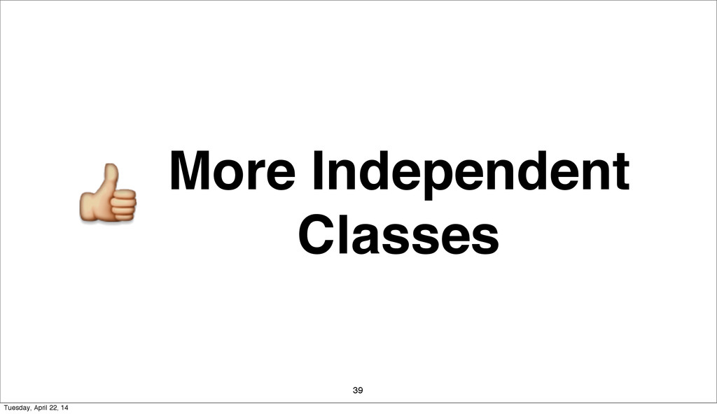More Independent Classes 39 Tuesday, April 22, ...