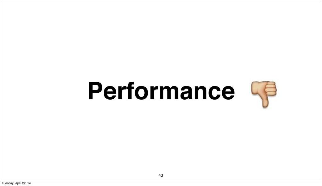 Performance 43 Tuesday, April 22, 14