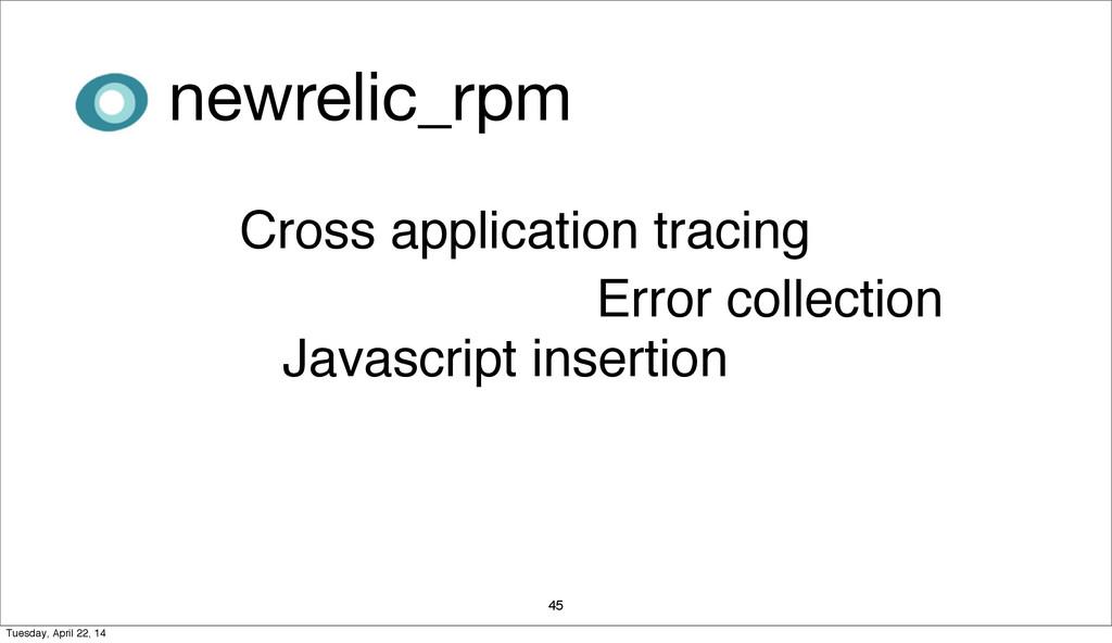 45 Javascript insertion Cross application traci...