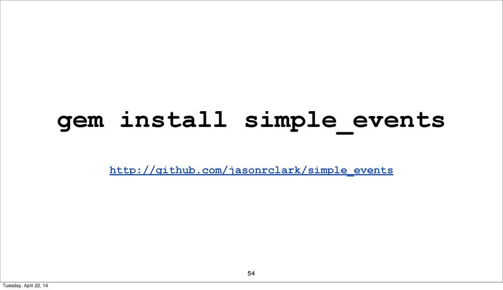 54 gem install simple_events http://github.com/...